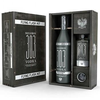 Squadron 303 Vodka dárková kazeta FLYING FLASK KIT 0,7l 40%