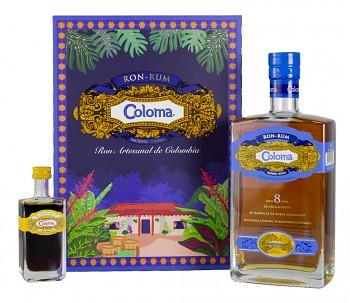 Coloma Rum 8yo 0,7l 40% + dárková kazeta mini coffee liqueur