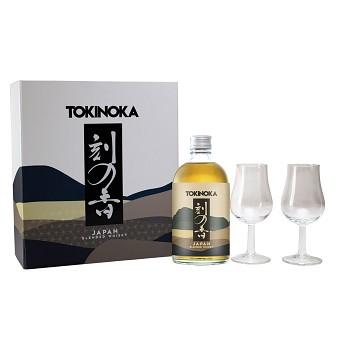 Tokinoka White Japan Whisky 0,5l 40% dárková kazeta 2xsklo