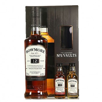 Bowmore 12yo + 2x mini Single Malt  Whisky 0,7l 40%