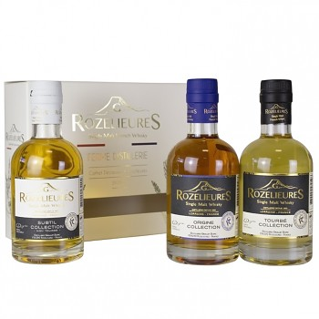 Rozelieures Single Malt Whisky Giftpack 3x0,2l (Origine, Subtil, Tourbé) 40%/40%/46%
