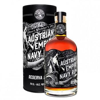 Austrian  Empire Navy Rum Reserva 1863 0,7l 40% + tuba