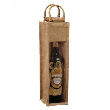 Jutová taška dárková na 1 láhev