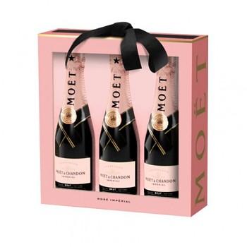 Moët & Chandon Rosé Imperial 3x0,2l 12% dárková sada