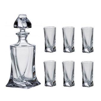Liquer set Crystalite 1 x 500ml + 6 x 50ml