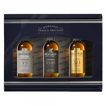 Reviseur Single Estate Cognac dárkový set 4x mini 0,05l 40%