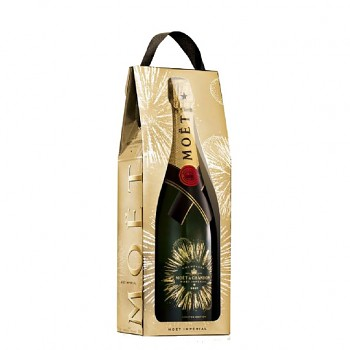 Moët & Chandon Bursting bubbles bottle gift bag 0,75l 12%