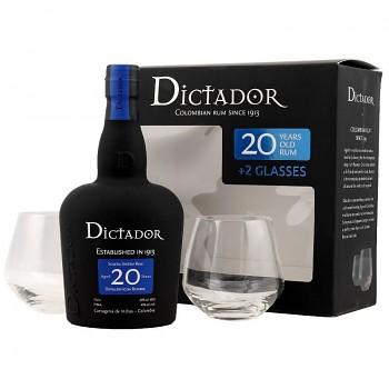Dictador Solera 20yo Rum + 2x sklo 0,7l 40%