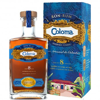 Coloma Rum 8yo 0,7l 40% + dárkový kartonek