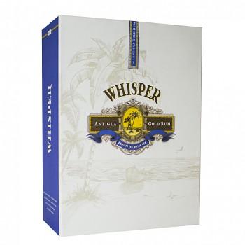 Whisper Antiqua Gold Rum 0,7l 40% + dárkový set